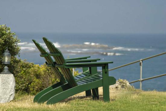 York Harbor, ME: Adirondack chairs line the point. Watch lobster boats, sailboats and sea life.