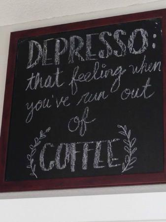 Ocean Beach Roasters & Bistro : Lots of fun signs up…this one was my personal favorite :)