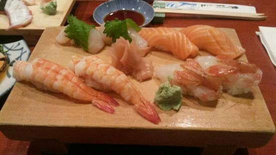 Scallop Salmon Cooked And Raw Shrimp Picture Of Koiso Sushi Bar