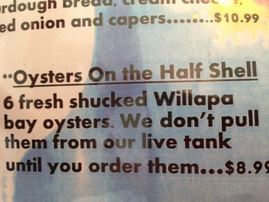 Mike's Seafood: Oysters on the Half Shell