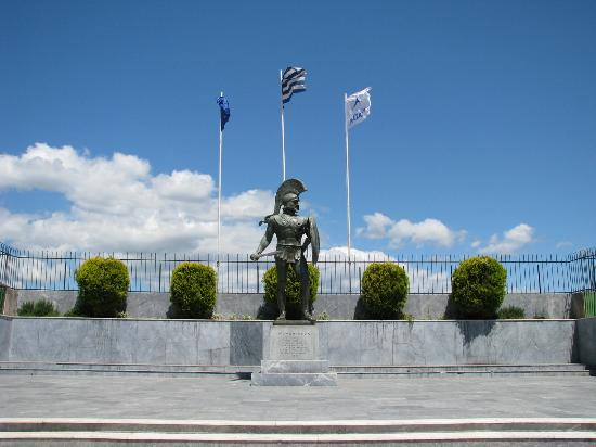 Monument of king Leonidas, Sparta, Greece