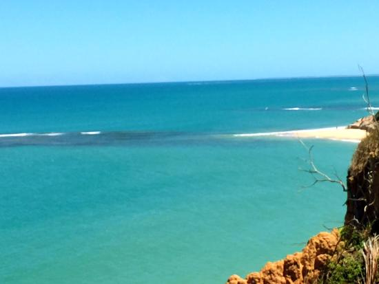 Praia do Espelho, vista da pousada Cala & Divino