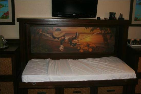 Disneys Caribbean Beach Resort Hidden Murphy Bed Open