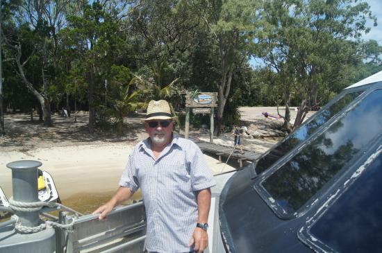 Tallship Island Adventures: Phil on boat at resort