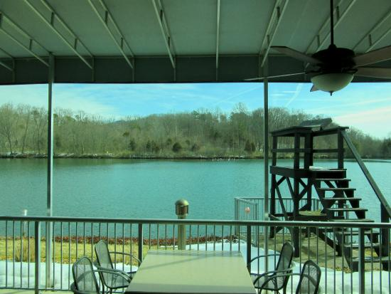 Riverside Grille: Looking out at patio area