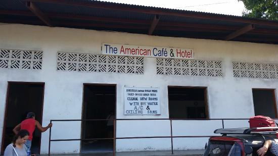 The American Cafe & Hotel: The front of the Hotel