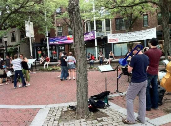 Davis Square: Get sandwich or ice cream and enjoy the people in the square.