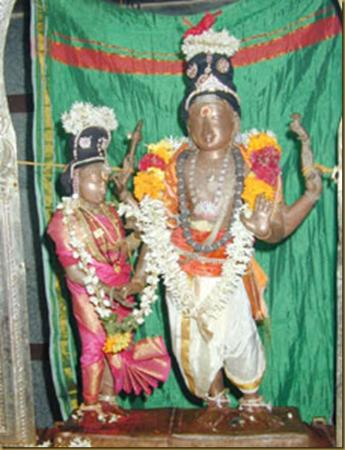 Thirumananjeri Temple: temple god