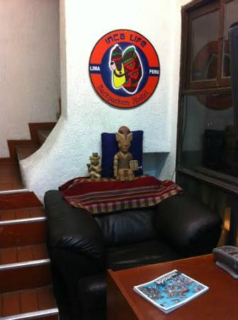 Inca Life Hostel: Recepcion