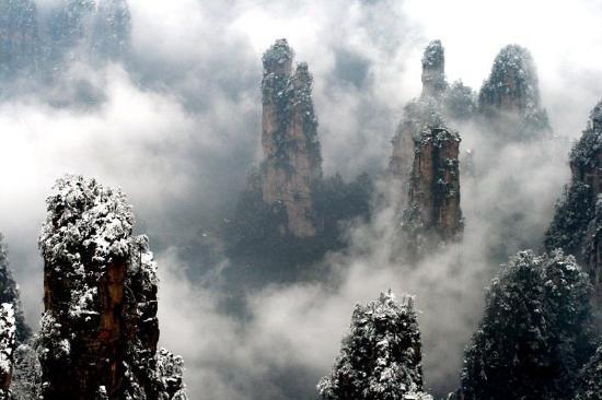 Snow in Zhangjiajie National Park