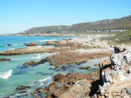 View from coastal path towards Hermanus