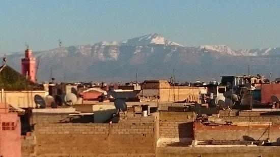 Zamzam Riad: View from the terrace of the Atlas mountains