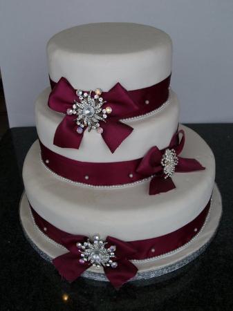 Aroma Patisserie Three Tier Wedding Cake