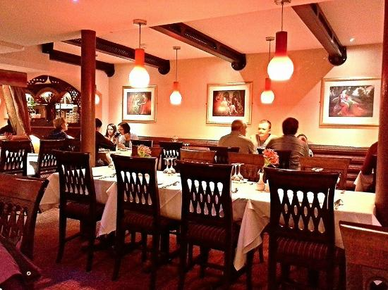 The Rajah Restaurant: Decor, basement.