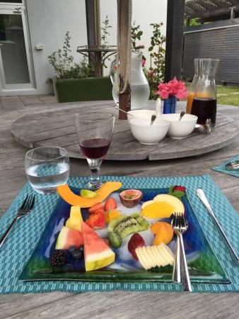 Breakfast on the Beach Lodge: Breakfast first course