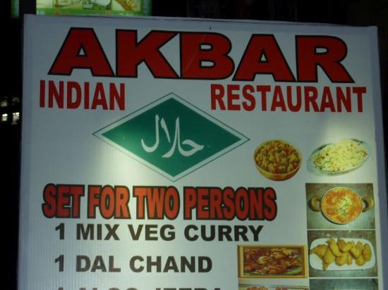 Akbar Indian and Thai Restaurant: Akbar new sign