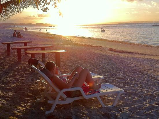 Pousada Recanto do Encanto: Strand bei Sonnenuntergang