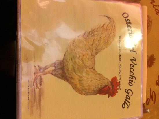 Osteria del Vecchio Gallo: gallo