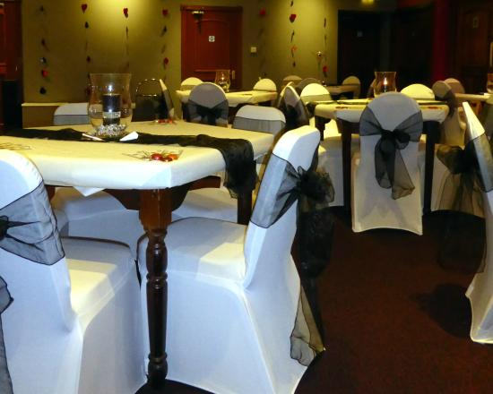 Bolton, UK: We car dress the tables and chairs.