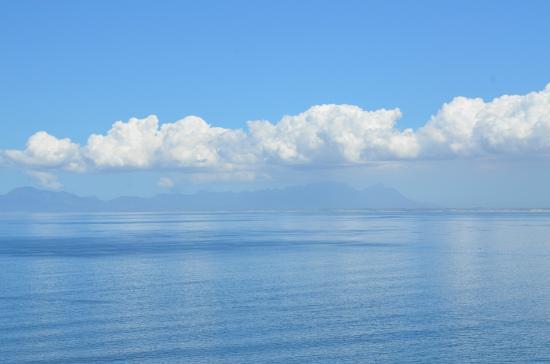 Gordon's Bay, Sudáfrica: Zicht op Tafelberg, muizenberg, ea