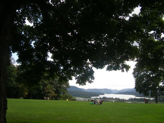 Boscobel House & Gardens: view across the Hudson