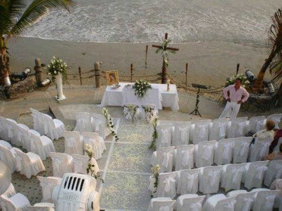 Villas Miramar : Area de playa para bodas y eventos