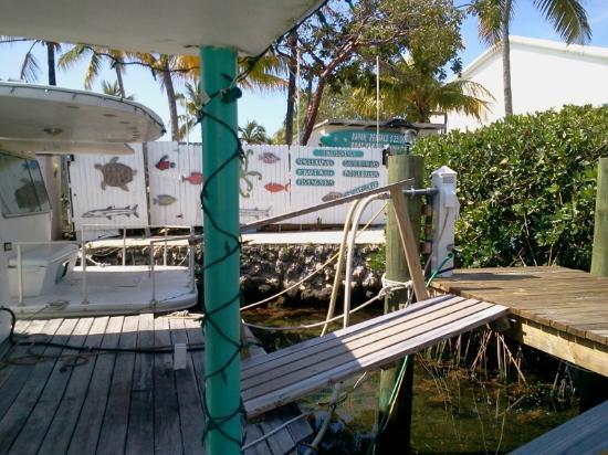 Key Largo House Boatel : Rear deck