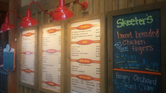 Skeeter's Pit BBQ: The menu wall