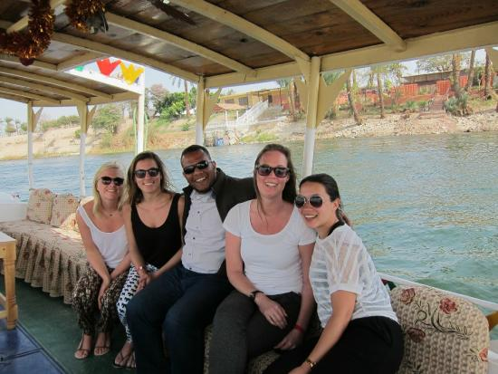 Tours From Hurghada : Us with our amazing guide Mohammad on the Nile!