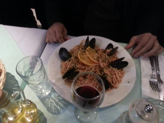 Pizzeria Mirkec: Spaghetti alla marinara