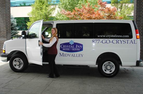 Crystal Inn Hotel & Suites Midvalley - Murray: Hotel shuttle