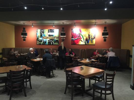 Cafe Barron's: A dining area with booths