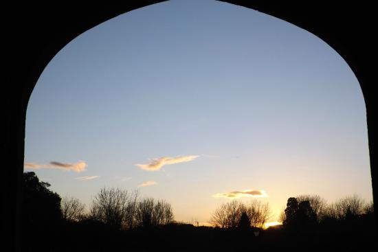 view through the arch