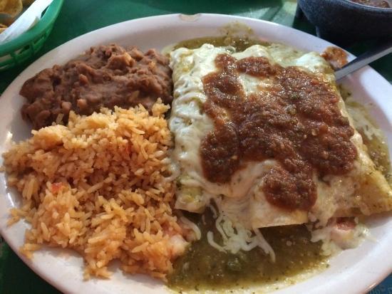 San Juan: shrimp enchiladas