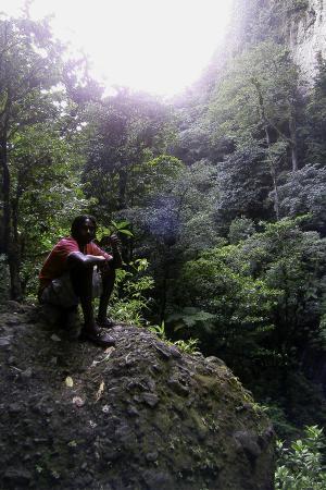 Ken's Hinterland Adventure Tours: Our guide Shane at Middleham Falls