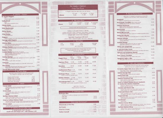 Ottawa, Илинойс: R. Grotto Menu 2015