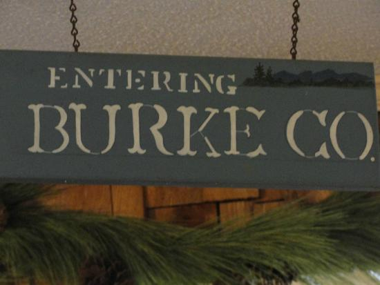Louise's Rock House: Burke County in the Restaurant