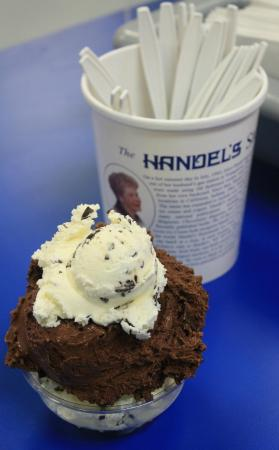 Handel's Homemade Ice Cream: Chocolate Chocolate-Chip and regular Chocolate-Chip