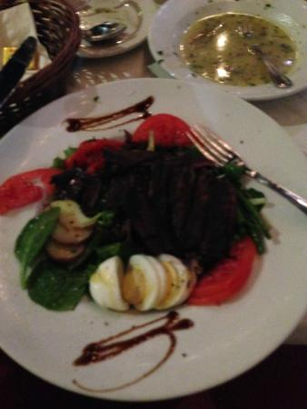 Carmine's Coal Fired Pizza: The beef salad