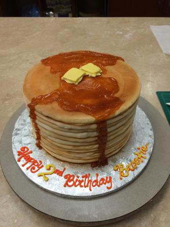 Pancake cake Super cute Looks just like pancakes Picture of