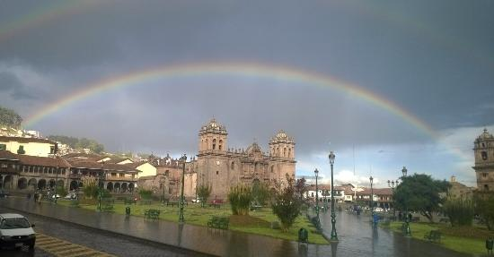 Hotel Amerindia: Arcoiris en la Plaza Mayor