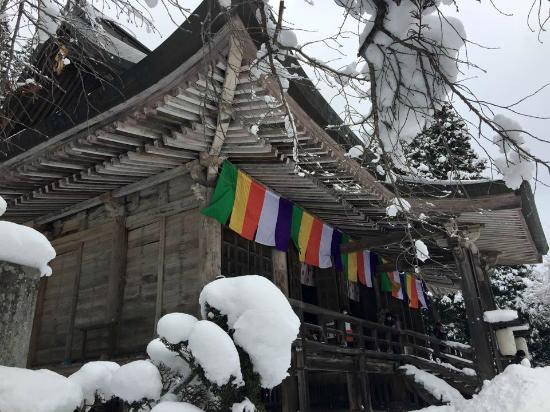 Yamadera Basho Memorial Hall : วัดด้านล่างง
