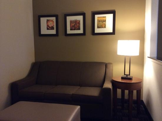 Comfort Suites Marshall: Luckily all rooms have comfortable seating.