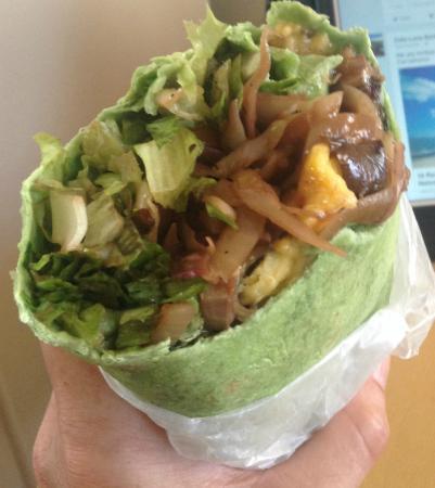 The Good Life: Very tasty veggie wrap