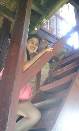 Bantay Bell Tower: stairs going to the top floor