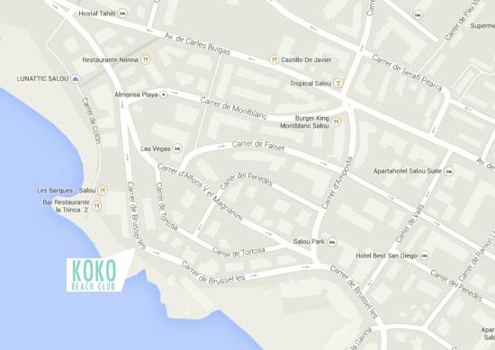 CORRECT MAP TRIDAVISOR MAP WRONG Picture of Koko Beach Club