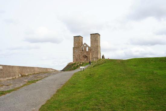 Reculver Country Park: Distant view from car park