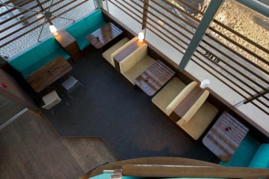 glass brasserie og bar: Restaurantbord sett ovenfra