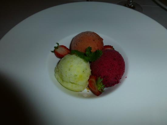 SeaFood at The Plettenberg: Sorbet/Ice Creams