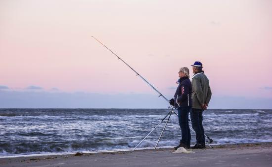 Hotel Boschrand : Vissen, en genieten van de zonsondergang